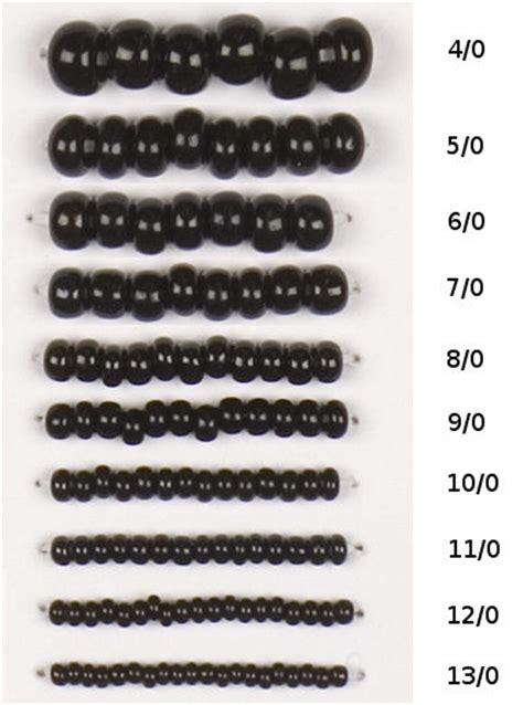 seed sizes seed bead sizes image search results