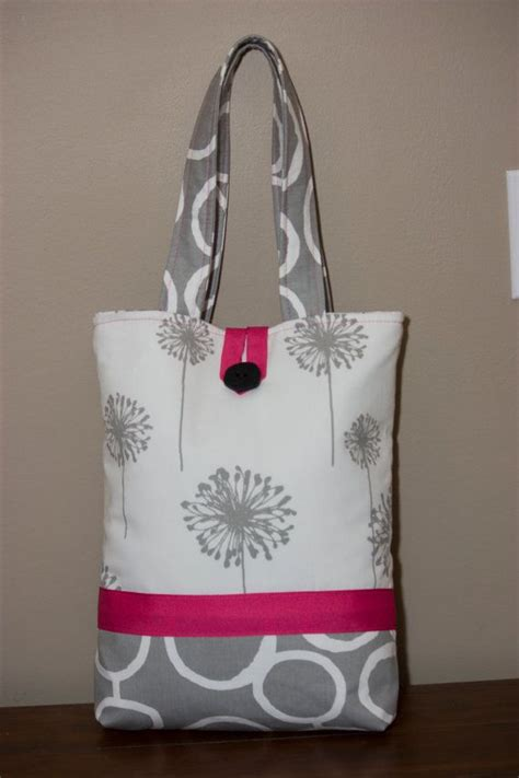 Handmade Tote Bag - large handmade fabric tote bag