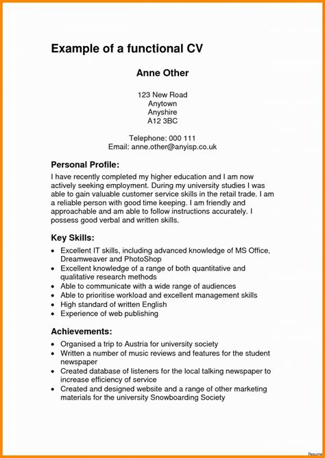 Profile On Resume by Profile Resume Exles Talktomartyb