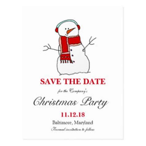 christmas party save the date postcards christmas party