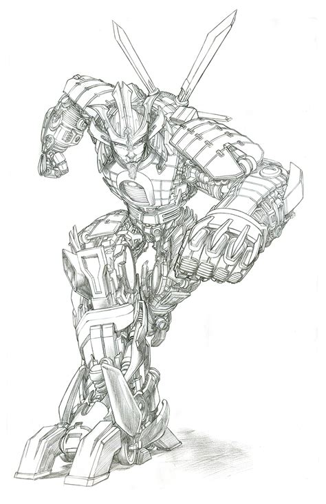 transformers drift coloring page transformers age of extinction gregory titus illustration