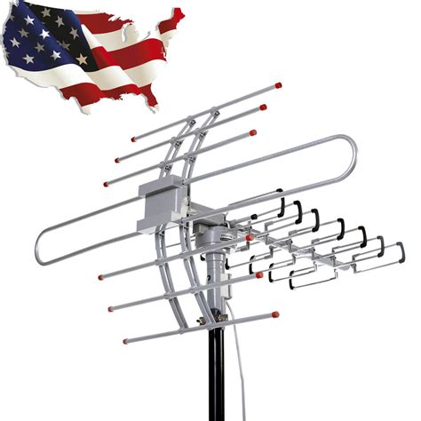 hdtv 1080p outdoor lified antenna directiona digital hd tv uhf vhf fm 150mile ebay