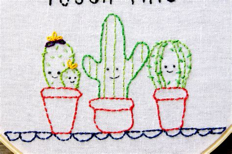how to do embroidery with easy and cactus embroidery hoop