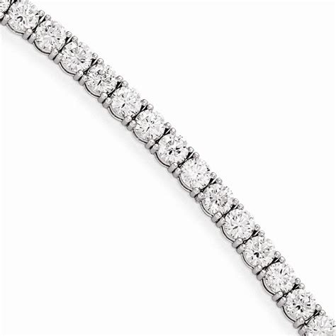 Markor Jewellers: Quality Gold Sterling Silver Rhodium Plated CZ 7in Bracelet