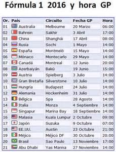 Calendario 2018 F1 Calendario Definitivo Para La F1 2016