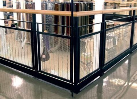 woven wire metal railings exterior   Banker Wire M13Z 145