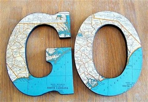 Paper Mache Craft Letters - more map craft use with chunky paper mache letters fro