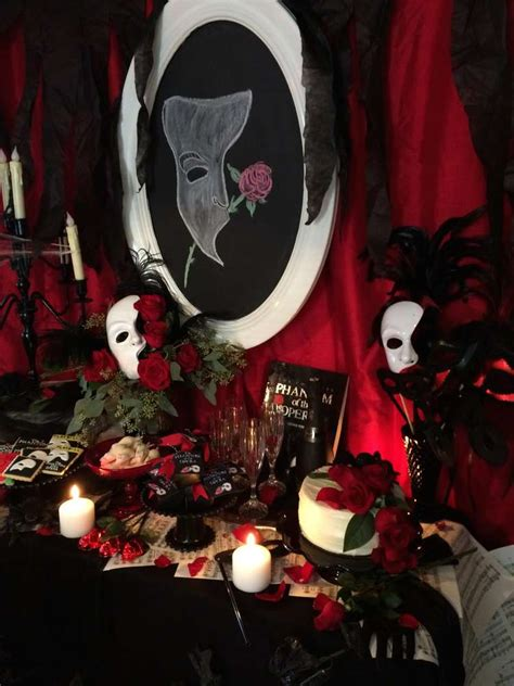 cute opera themes phantom of the opera cocktail party ideas photo 2 of 13