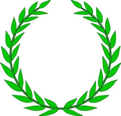 bayleaf kranz olive wreath clip vector free vectors vectorfreak
