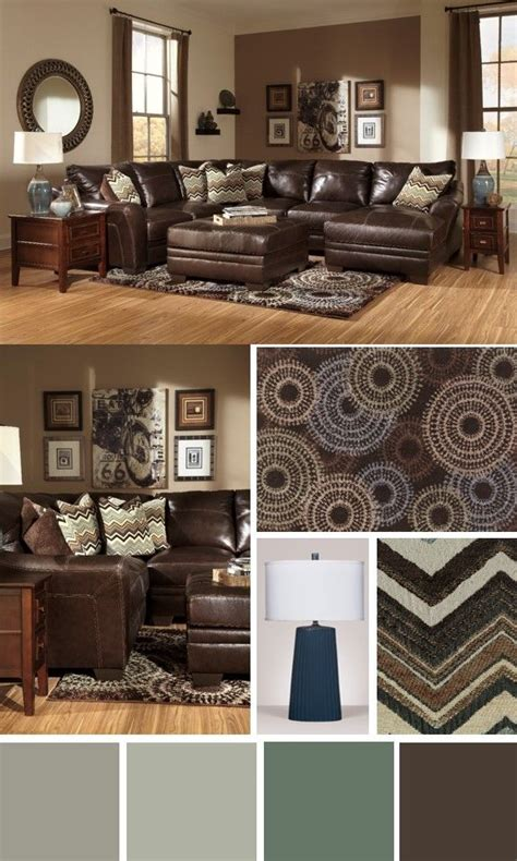 Living Room Color Schemes Brown Furniture 17 Best Ideas About Brown Leather Furniture On