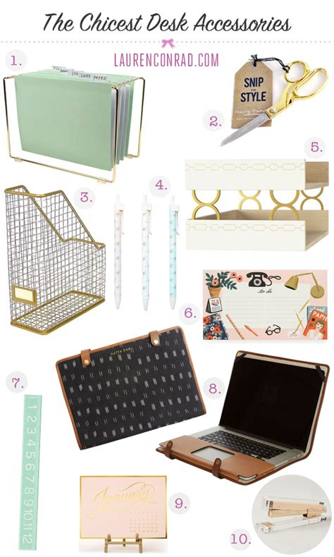 cute desk accessories for work tuesday ten the chicest desk decor desks banks and