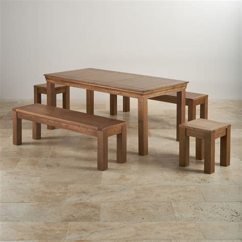 6 foot dining bench french oak dining set 6ft table with 2 benches stools