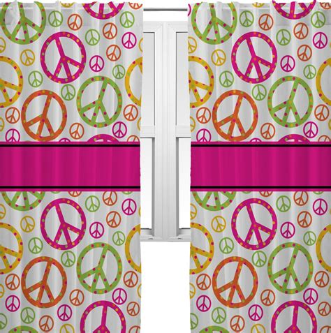 peace sign window curtains peace sign curtains 56 quot x80 quot panels unlined 2 panels