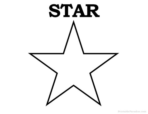 printable images of a star printable star shape print free star shape