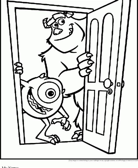 mike wazowski coloring pages coloring home