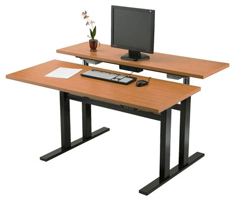 Wood Adjustable Computer Desk For Standing Pdf Plans Adjustable Desk