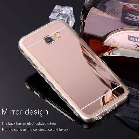 Luxury Aluminium Bumper Mirror Samsung A3 A300 A3 20 Berkualitas for samsung galaxy 2017 a3 a5 a7 luxury ultra thin chrome mirror soft tpu ebay