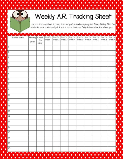 printable ar goal sheets a r tracking sheet classroom ideas pinterest ar