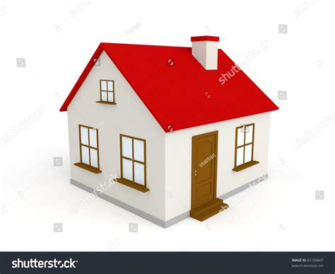 new 3d house isolated on white background 3d house isolated on white background stock illustration