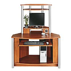 computer desk with usb hub citadel corner computer desk with integrated usb hub 60