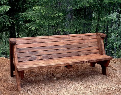 rustic park bench rustic bench built to last decades forever redwood