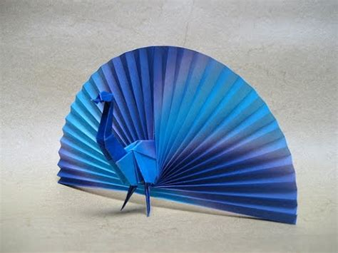How To Make A 3d Peacock Out Of Paper - origami peacock by vicente palacios