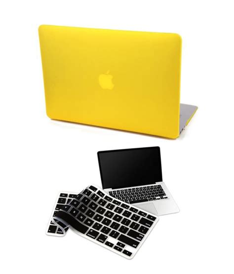 Macbook Matte Yellow pindia yellow matte finish cover for apple