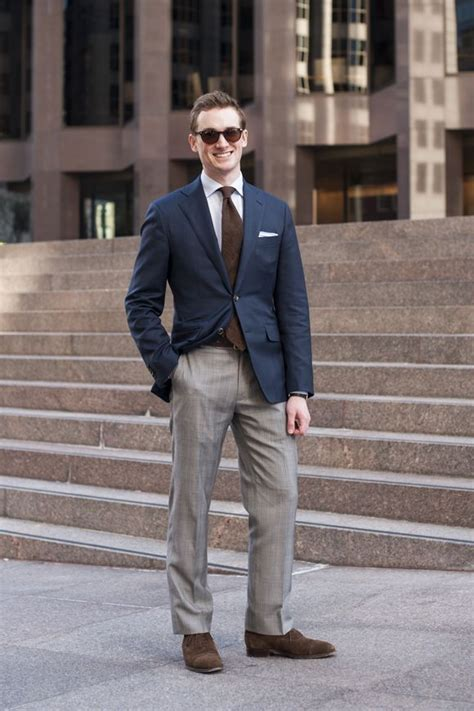 Bf Stripped Light Blue shades by warby navy blazer by proper suit blue