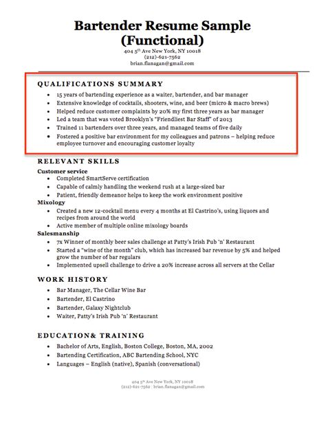 Summary Of Qualifications On Resume by How To Write A Summary Of Qualifications Resume Companion