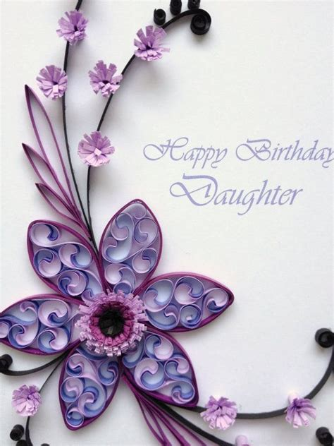 Paper Flowers For Card - paper quilling happy birthday card quilled