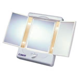 Makeup Mirror With Lights And Magnification Conair Tm7lx Sided Lighted Makeup Mirror Regular