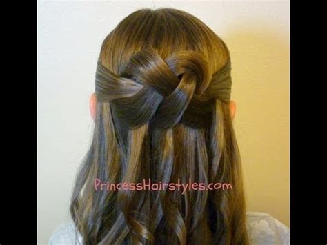 hairstyles for long hair knots quot woven knot quot half up hair style homecoming hairstyles