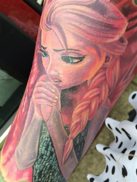 frozen tattoos frozen elsa by chrisvennek luckydrawtattoo