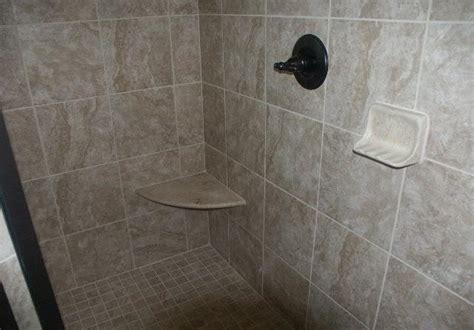 Dish Floor Shower - bathroom tile installation garner raleigh cary nc