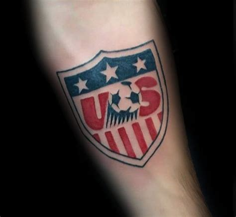 usa tattoos for men 90 soccer tattoos for sporting ink design ideas