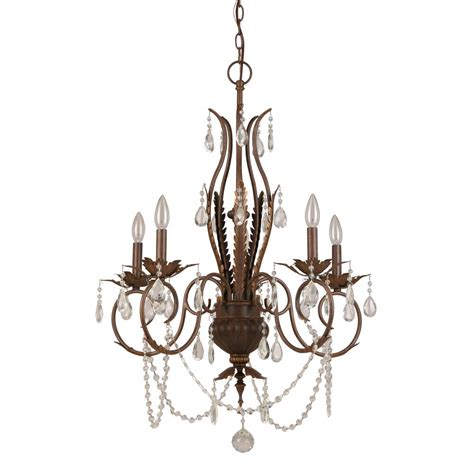 Bronze Chandeliers With Crystals Hton Bay 5 Light Bronze Chandelier Bvb9115a The Home Depot