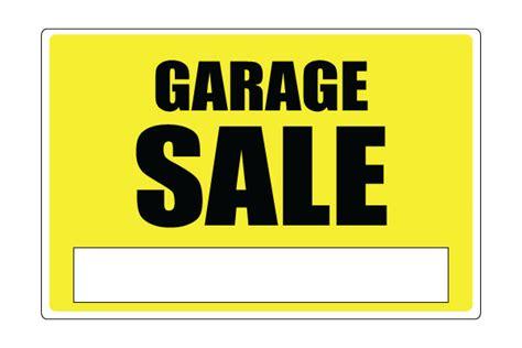 printable garage sale sign yellow free pdf