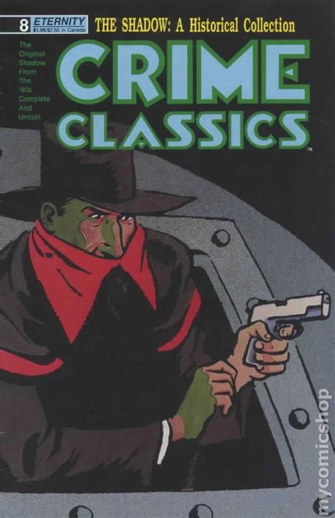 shadow crimes books crime classics 1988 shadow reprints comic books