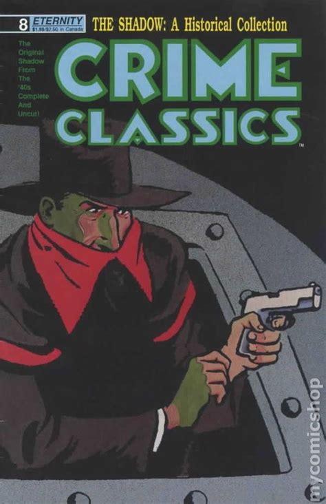 shadow crimes books crime classics 1988 shadow reprints comic books