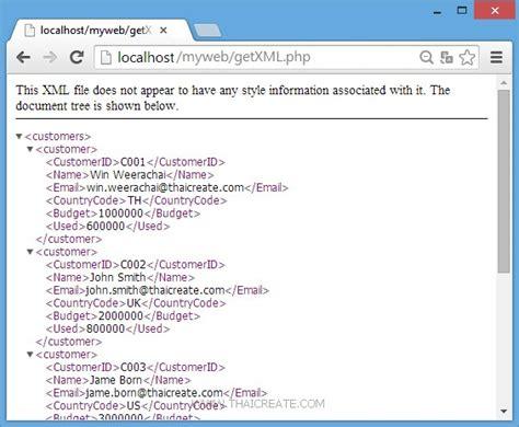 xml tutorial in php php xml parser tutorial phpsourcecode net