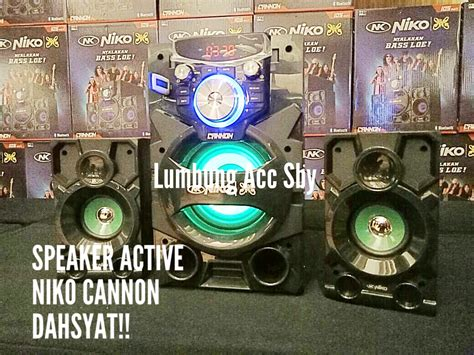 Niko Speaker Aktif Nk S1b new speaker aktif niko cannon bluetooth suara dahsyat model keren bonus supplier