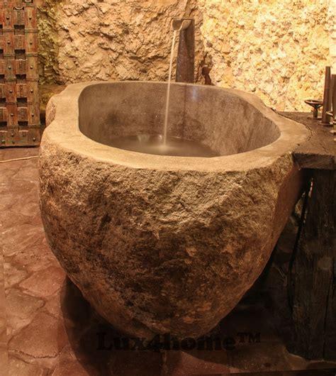 rock bathtub stone bathtub drained in rock stone bathtubs lux4home com