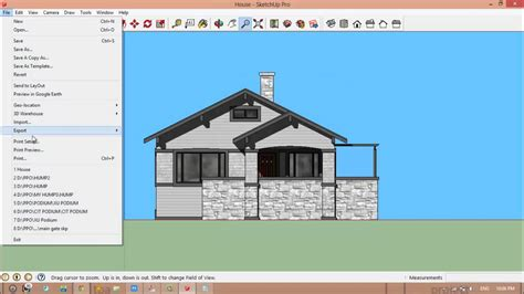 sketchup layout dwg export how to export sketchup to autocad youtube