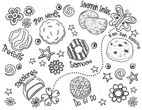 scout cookie coloring pages gs cookie coloring sheet scouts general