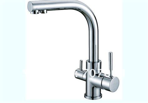 Luxury Double Handles Kitchen Faucet Hot and Cold Mixer