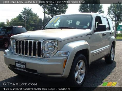 2008 Jeep Liberty Limited 4x4 Bright Silver Metallic 2008 Jeep Liberty Limited 4x4