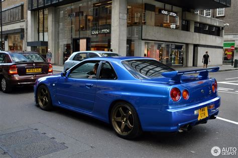 nissan skyline 2015 blue nissan skyline r34 gt r v spec 1 august 2015 autogespot