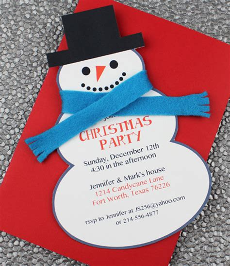 diy snowman christmas party invitation template from