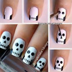 20 easy step by step scary halloween nail art tutorials