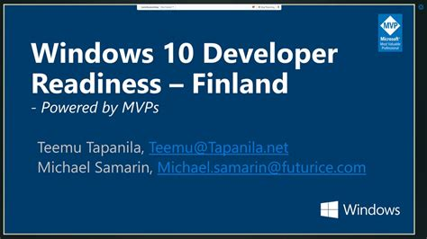windows 10 development with xaml and c 7 books windows 10 developer readiness finland windows 10